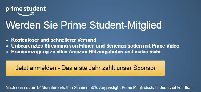 Amazon Prime für Studenten