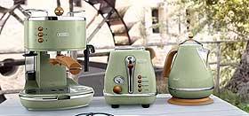 Icona Vintage Frühstücksserie für die Espresso Siebträgermaschine bis 200 Euro De'Longhi ECOV 311.GR