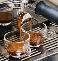 Espresso-Extraktion bei perfekter Zubereitung