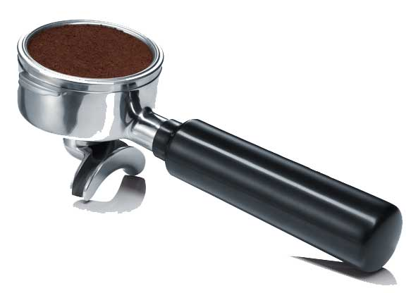 Espresso-Siebträger gefüllt mit italienischen Espresso