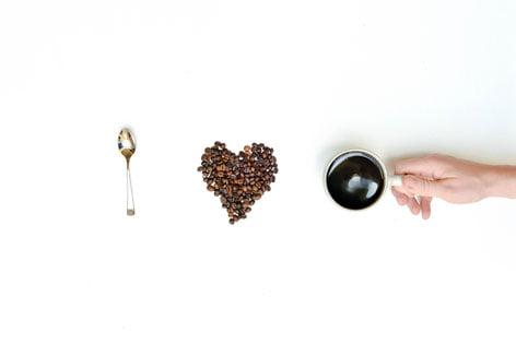 Espressobohnenherz