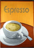 Espressotasse-Werbung