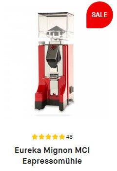 Weihnachtsgeschenkidee, die Eureka Mignon MCI Espressomühle in rot