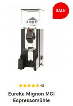 Weihnachtsgeschenkidee, die Eureka Mignon MCI Espressomühle in schwarz