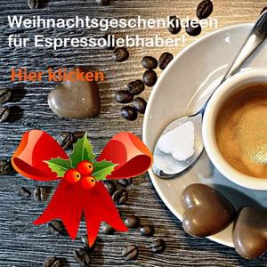 Weihnachtageschenke für Espressoliebhaber